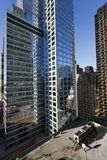 De uit het stadscentrum Wolkenkrabbers van Manhattan NYC en Airconditioningstoestel HVAC Royalty-vrije Stock Afbeelding