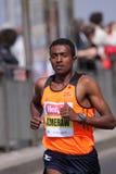 Bekele Azmerach - Prague half marathon. Bekele Azmerach from Ethiopia in Hervis Prague half marathon 2011 held 2.4.2011 royalty free stock photos