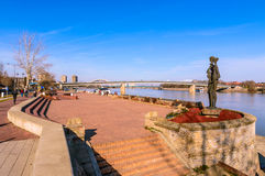 Bekend oriëntatiepunt van Novi Sad Stock Fotografie