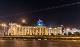 Bekhzod Nationaal Museum in Dushanbe, de hoofdstad van Tadzjikistan royalty-vrije stock afbeelding