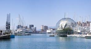 Bekijk de haven van Genua royalty-vrije stock fotografie