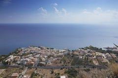 Bekijk de stad van Sant'Elia Stock Foto's
