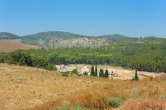 Bekijk de Vallei Carmel (Israël) Royalty-vrije Stock Foto