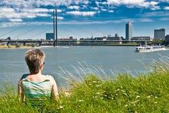 Bekijk in Dusseldorf Stock Afbeeldingen