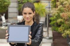 Bekijk mijn tablet Stock Fotografie