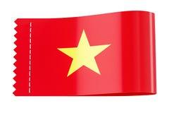 Bekläda etiketten, etikett med flaggan av Vietnam framförande 3d Royaltyfria Bilder
