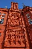 Bekläda facaden av Pierhead byggnad Arkivfoto