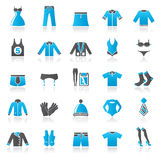 Bekläda och modesamlingssymboler Royaltyfri Foto