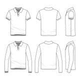 Bekläda som är fastställt av den manliga golfpoloskjortan Fotografering för Bildbyråer