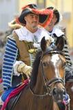 beklär den historiska ryttaren Royaltyfri Bild