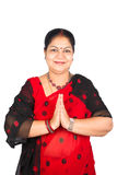 beklär den indiska traditionella kvinnan Arkivfoton