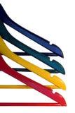beklär färgrika hängare Royaltyfri Fotografi