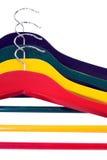 beklär färgrika hängare Royaltyfri Foto