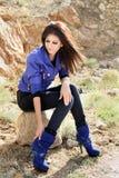 beklär flickaglamour Royaltyfria Foton
