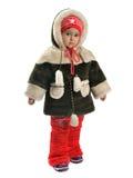 beklär flickan little vintern Arkivbild