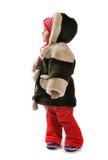 beklär flickan little vintern Royaltyfri Fotografi