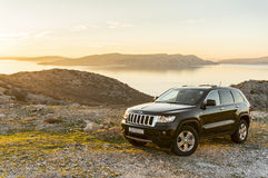 Beklär storslagna Cherokee för Jeep Arkivbilder