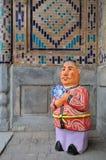 beklär traditionell uzbek Royaltyfri Foto
