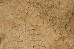 Beklad gemaakt van modder en koemest stock foto
