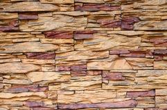 Bekleding van steenmuur stock afbeeldingen