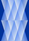 Bekledingsachtergrond in kubistische stijl, wit en blauw ontwerp met netstructuur Royalty-vrije Stock Foto's