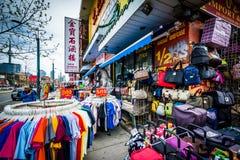Bekleidungsgeschäft in Chinatown, in Toronto, Ontario lizenzfreies stockfoto