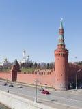 Beklemishevskaya-Turm des Moskaus der Kreml Lizenzfreies Stockfoto