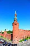 Beklemishevskayatoren in Moskou het Kremlin Stock Afbeelding