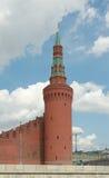 Beklemishevskayatoren van Moskou het Kremlin Stock Foto