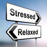 Beklemtoond of ontspannen. vector illustratie