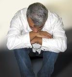 Beklemtoonde mens Stock Foto