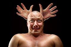 Beklemtoonde mens Stock Fotografie