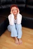 Beklemtoonde Vrouw Stock Foto's