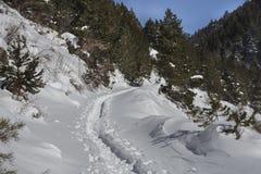Beklim aan het toevluchtsoord van 'komt DE Rubià ³ 'in de winter royalty-vrije stock fotografie