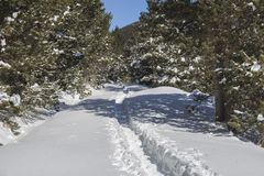 Beklim aan het toevluchtsoord van 'komt DE Rubià ³ 'in de winter royalty-vrije stock afbeeldingen