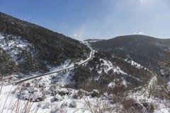 Beklim aan het toevluchtsoord van 'komt DE Rubià ³ 'in de winter stock afbeeldingen