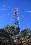 Beklimmen van de Ladder van Naxi het Etnische Royalty-vrije Stock Afbeeldingen