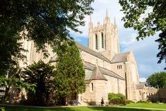 Beklimming van onze kerk van Lord in Montreal stock fotografie