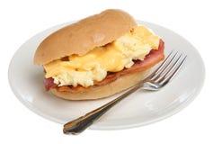 bekon rolka śniadaniowa jajeczna Fotografia Royalty Free