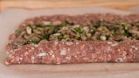 bekon wśrodku mięso kołysania się Obrazy Royalty Free