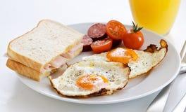 bekonowi jajka smażyli pomidory Zdjęcie Royalty Free