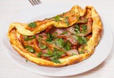 Bekonowy omlet Zdjęcie Royalty Free