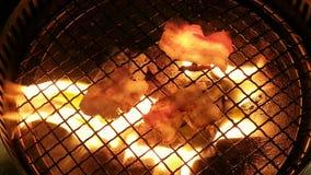 Bekony na grillu Zdjęcia Royalty Free
