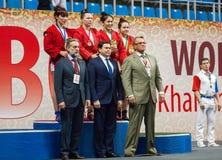 Bekroonden op podium Royalty-vrije Stock Fotografie