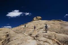 Bektau ata, uitgestorven vulkaan in Kazachstan Stock Foto