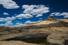 Bektau ata, uitgestorven vulkaan in Kazachstan Royalty-vrije Stock Foto