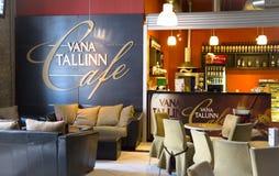 Bekväm inre av kafét Vana Tallinn Royaltyfri Bild
