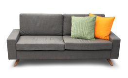 Bekväm soffa med kuddar Royaltyfria Foton