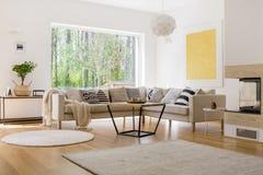 Bekväm soffauppsättning med kuddar Royaltyfria Foton