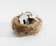 Bekvämt rede för ny hem- äganderätt Arkivfoton